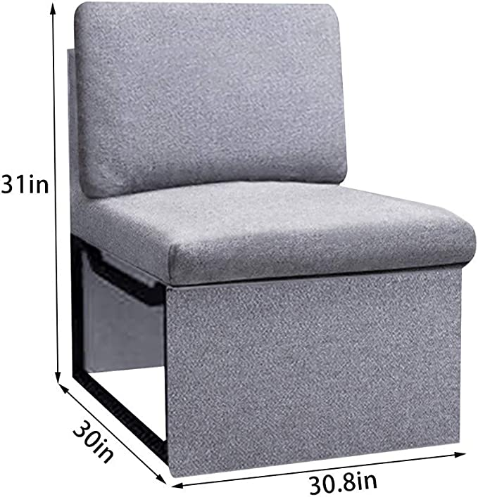 Lucakuins Accent Chair Modern Wing Back Sofa Chair Living Room Cushion Linen Fabric Arm Chair Upholstered Desk Chair with Wooden Legs Single Sofa Club Chair for Bedroom Office Apartment