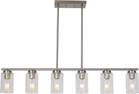 CHROME BAR AND FROSTED CUBE LIGHT 6 WAY ARM LED LIGHTING