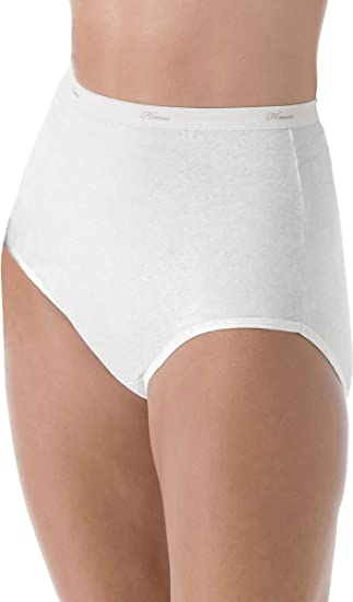 383a45979b2 Image Unavailable. Image not available for. Color  Hanes Women s 6Pack  White Cotton Briefs Ladies Panties Underwear 8