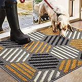 "Color&Geometry Indoor Doormat, Indoor Outdoor 24""x36"" Mat Waterproof, Non Slip Washable Quickly Absorb Moisture and Resist Dirt Rugs for Entrance"