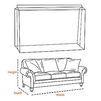 Amazon.com: Homeideas - Funda extra gruesa para muebles de 4 ...