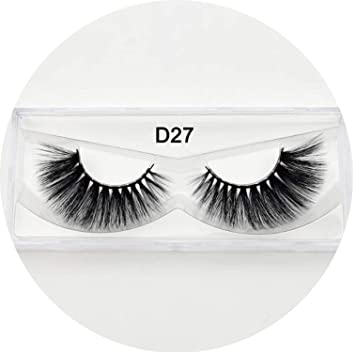 0d6fd6ae283 Amazon.com : Eyelashes 3D Silk Eyelashes Hand Made Natural Long Faux Mink  Lashes Vegan Cruelty Free False Lashes Maquiagem Makeup, silkD27 : Beauty