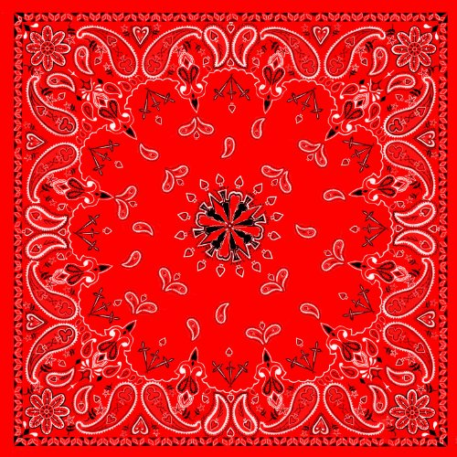 Zanheadgear B003 Premium Bandanna, 100% Cotton, Red Paisley