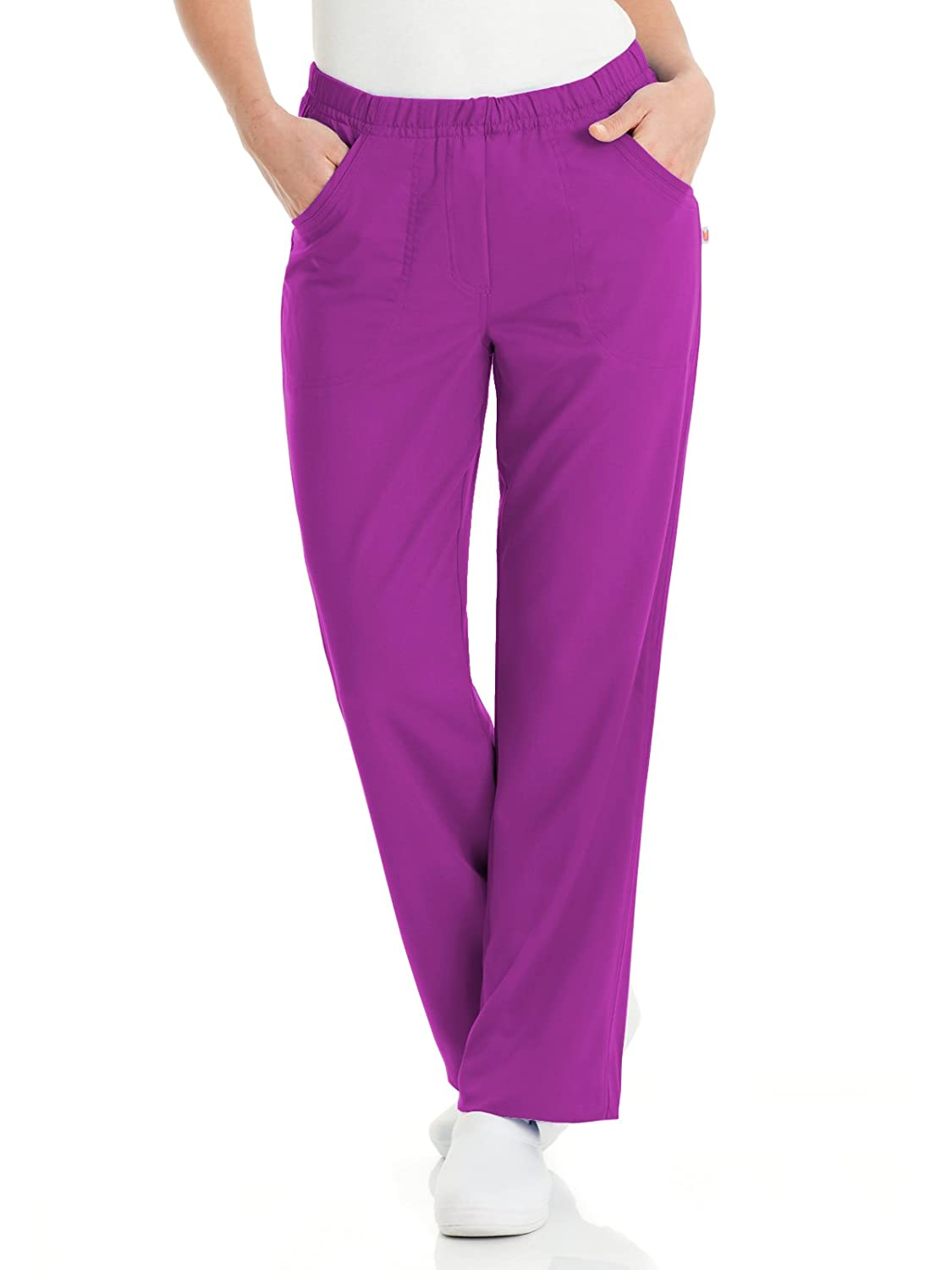 5a75288e6fa Amazon.com  Urbane Ultimate 9306 Alexis Comfort Elastic Waist Pant  Medical  Scrubs Pants  Clothing
