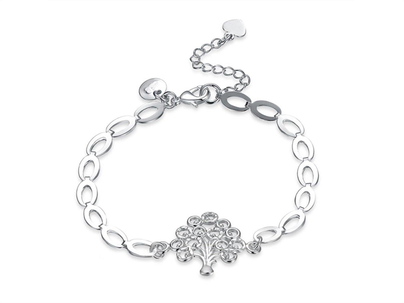 JKHGJUH Alla moda Bracciale a forma di bracciale con pendente a catena regolabile a catena regolabile da donna
