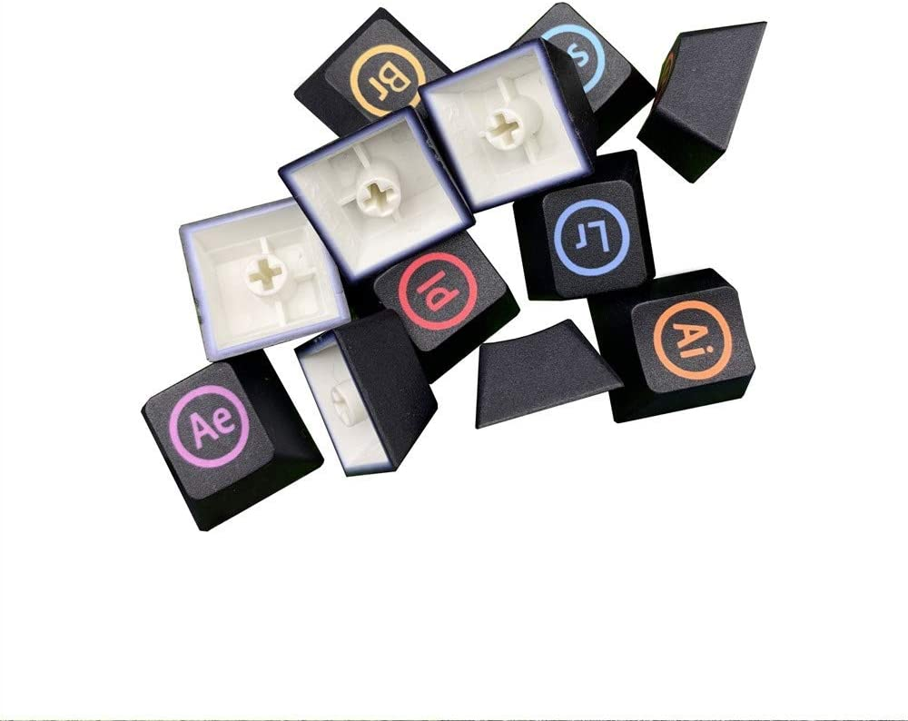 Keyboard keycaps 12 Keys//Set PBT Five Sides Dye Sublimation Key Cap Mechanical Keyboard Keycap Ps Additional Personality Keycaps for MX Switches Color : 12pcs R4 keycap