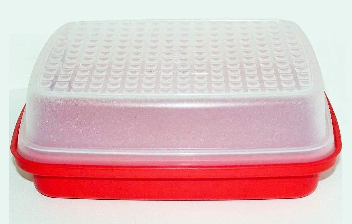 Tupperware Small Jr Serving Center Red New