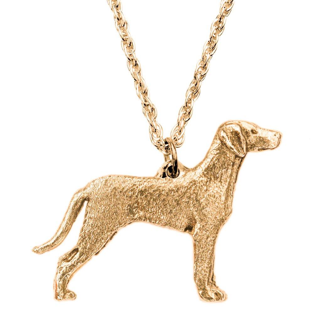 Weimaraner (con la coda) Made in UK, Collezione Pendente Collana Artistici Stile Cani DOG ARTS JP