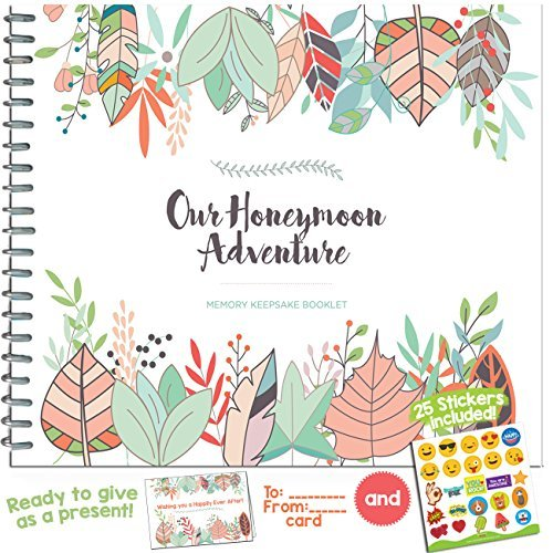 Honeymoon Adventure Journal for Couples - The Perfect Photo Album Gift for Newlyweds That Includes Emoji Stickers and a Matching Card - The Unique Memory Book You Need for The Best Trip of Your Life. by Unconditional Rosie