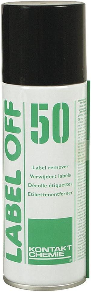 KONTAKT CHEMIE Label Off 50 Pulverizador para Limpieza de Equipos 200ml - Kit de Limpieza para Ordenador (Pulverizador para Limpieza de Equipos, 200 ml, Verde, Blanco, 1 Pieza(s))