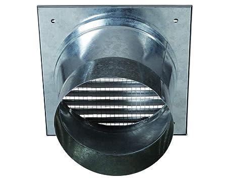 Exterior Aire Rejilla galvanizado DN 100 rejilla de ventilación ...