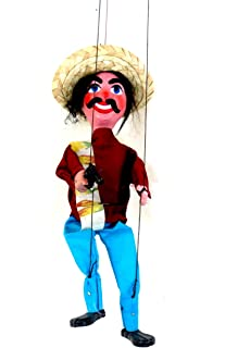 Leos Imports (TM Mexican String Puppet Marionette Bandido w/Gun