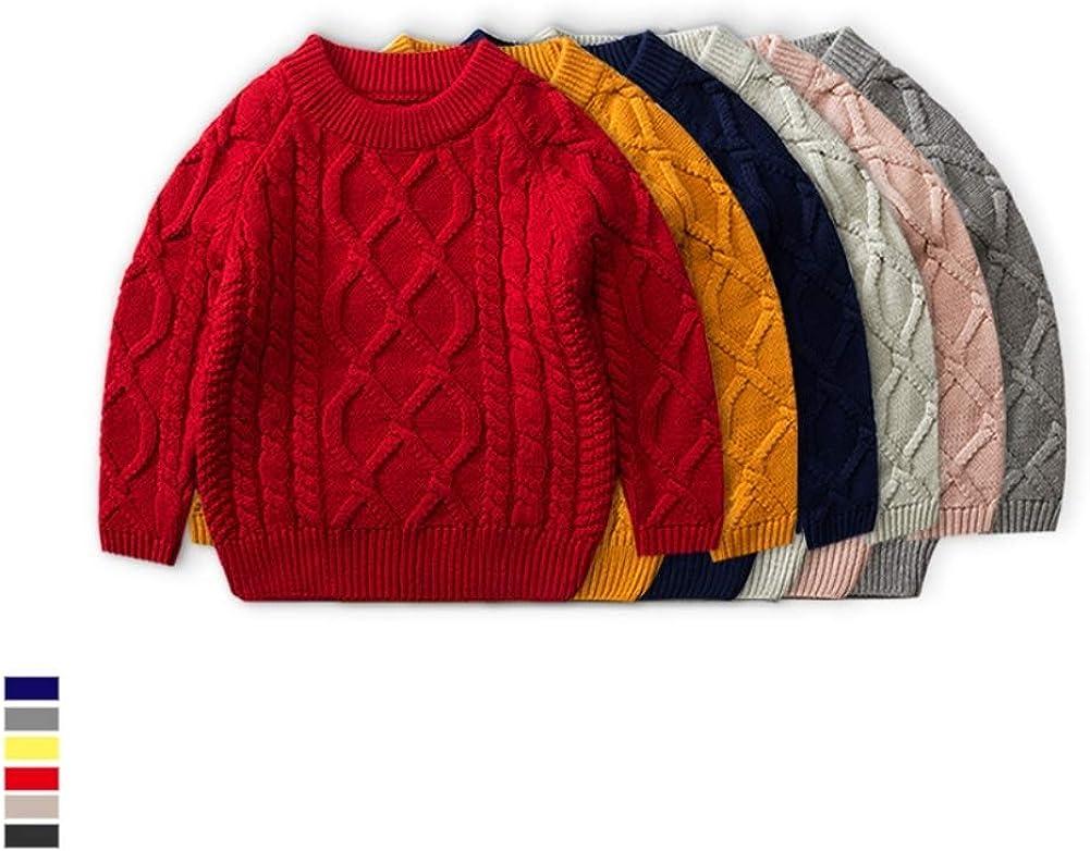 KIMJUN Toddler Baby Girl Boy Knit Sweater Pullover Little Kid Stripe Cotton Sweatshirt Winter Spring 1-6t