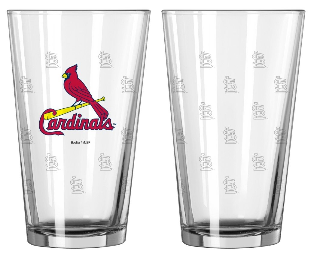 Boelter Brands 133952 St Louis Cardinals Glass Pint Satin Etch 2 Piece Set One Size Clear Caseys-Distributing 4245102804