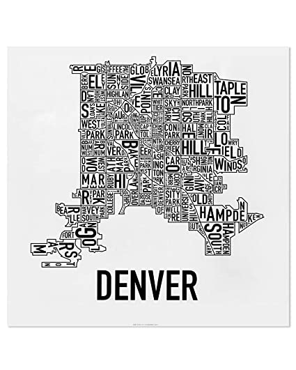 on denver neighborhood map