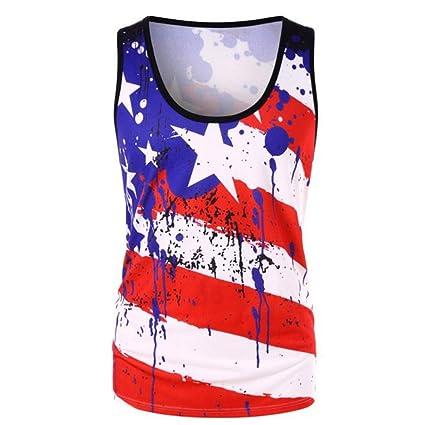 3b0485148afa Amazon.com: Toponly Casual Racerback Tank Tops Women's Stripe America Flag  Printed Vest O-Neck Sleeveless T Shirt: Arts, Crafts & Sewing