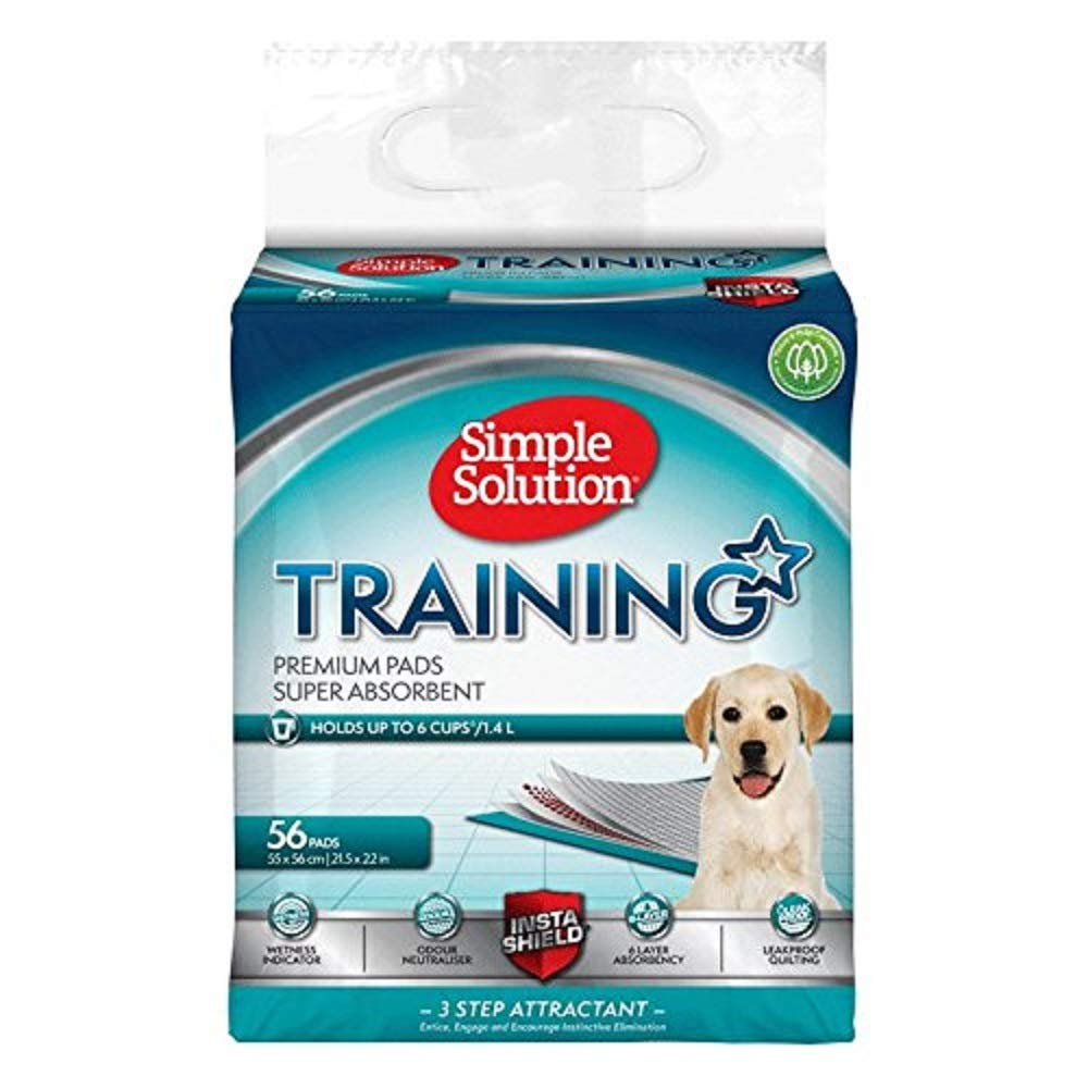 Pack Of 56 Simple Solution Puppy Training Pads (Pack Of 56) (May Vary)
