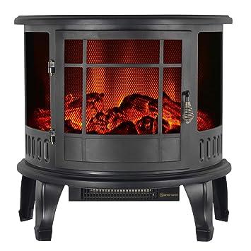 Decdeal - Chimenea eléctrica decorativa con llama - Temperatura ajustable - 1800 W - 585 x 280 x 560 mm: Amazon.es: Hogar