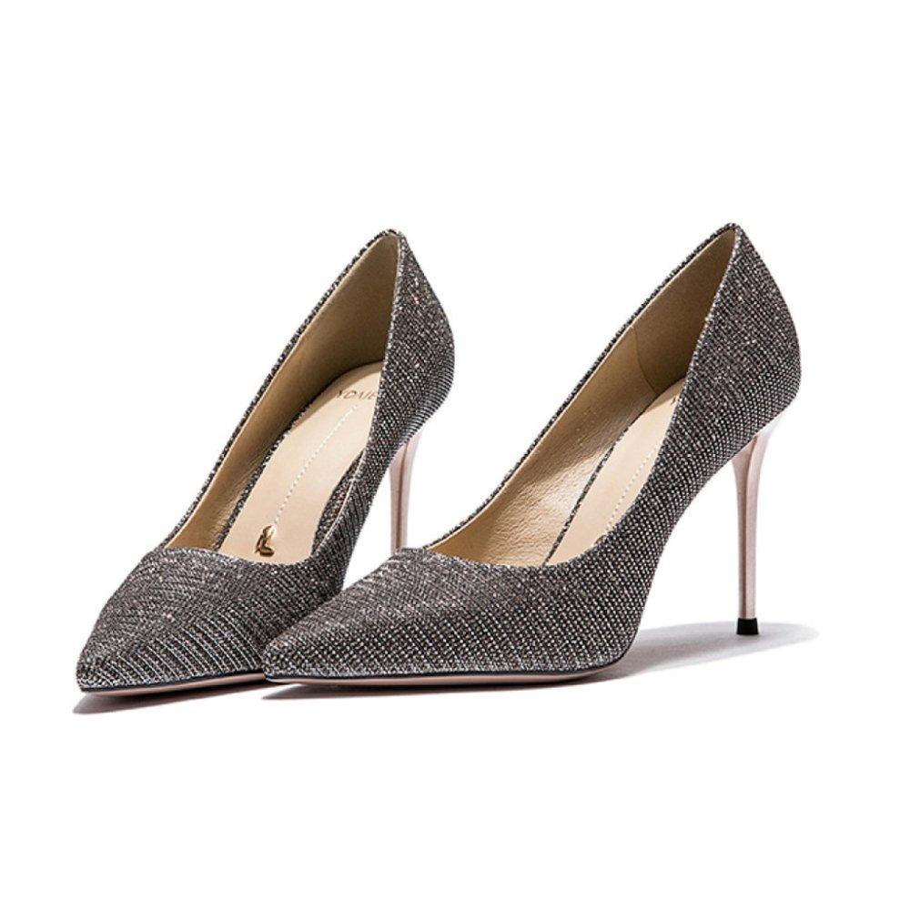 Yra Damenschuhe Frühling Neue High Heels Damen Stiletto Heels Heels Stiletto Single Schuhe Party Schuhe Arbeit,Gold-8.5CM-EU 36 UK 4 f577ed
