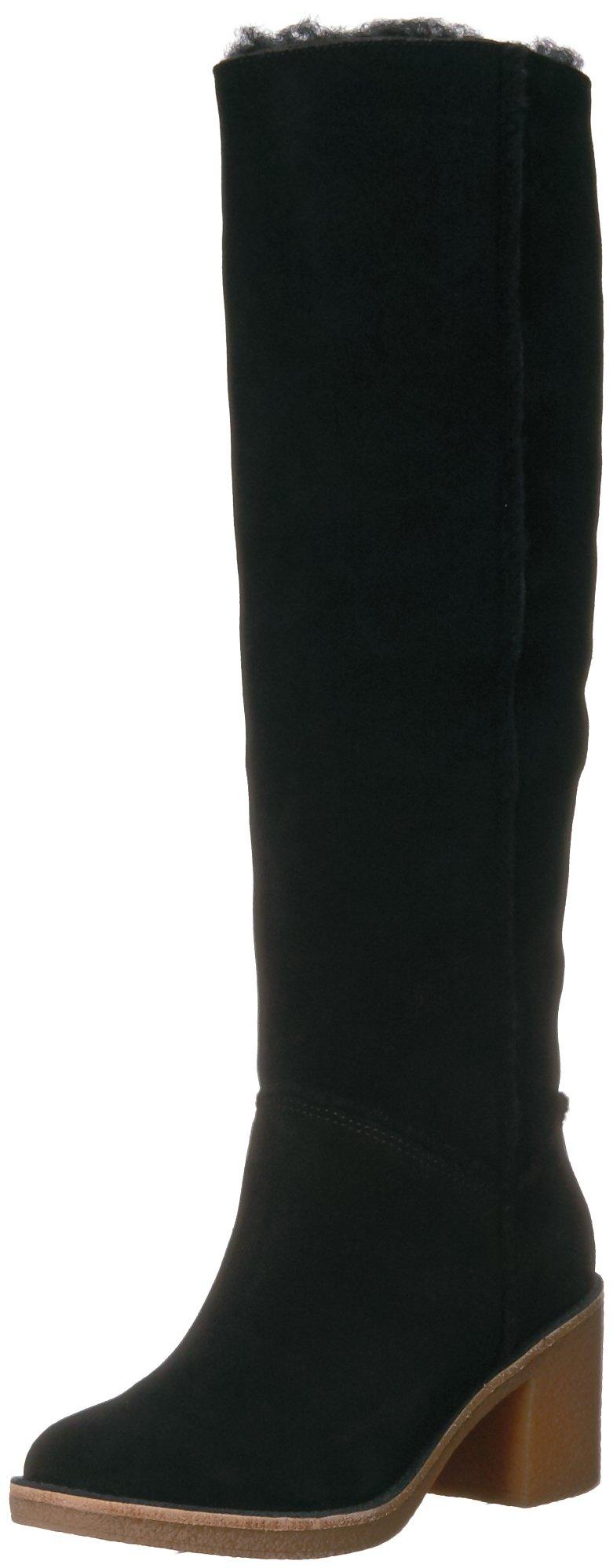 UGG Women's Kasen Tall Boot, Black, 9 M US