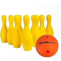 Champion Sports Juego de Bolos de Espuma: Rhino Skin Ball & Pins para Entrenamiento y Juegos de niños