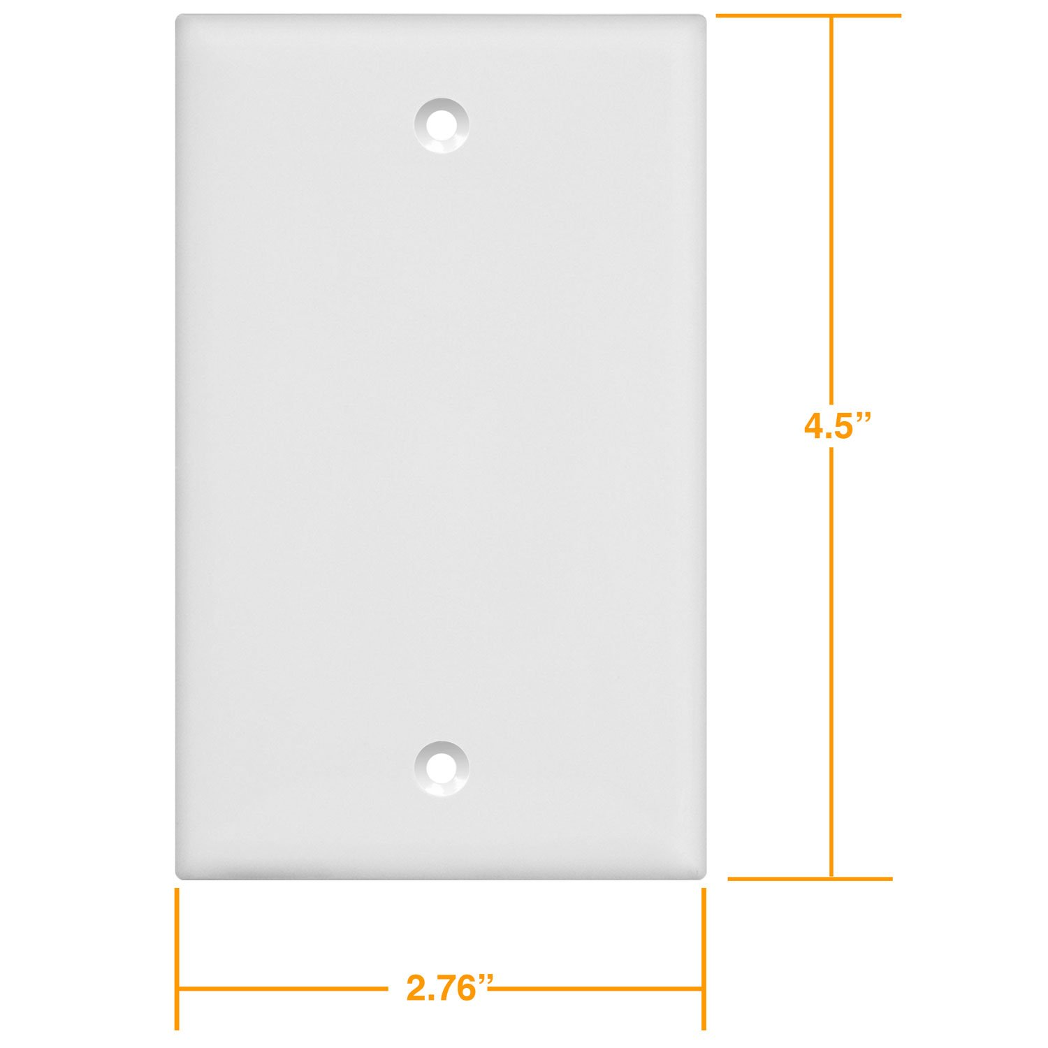 Enerlites 8801-W-10PCS Blank Cover Wall Plate, Standard Size 1-Gang, Polycarbonate Thermoplastic, White (10 Pack) by Enerlites (Image #6)