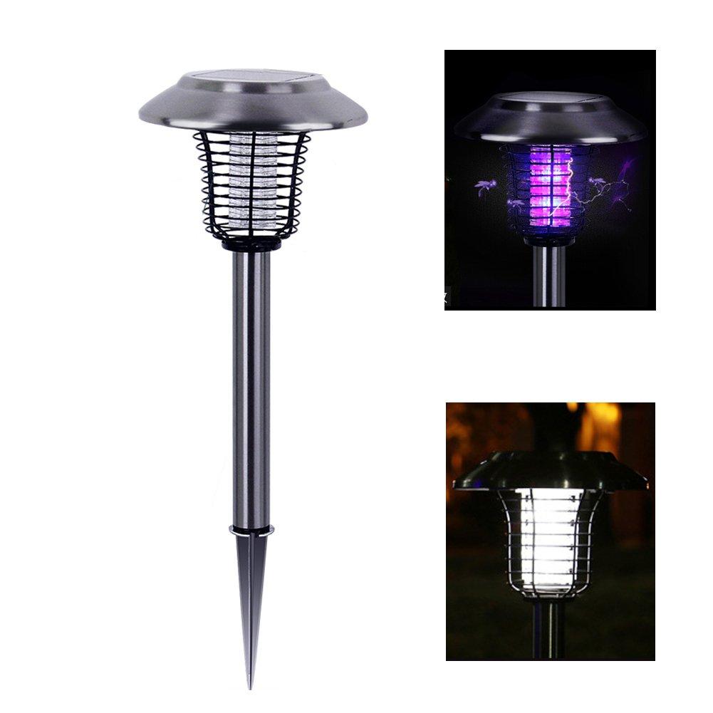 Molie Solar Powered LED Light 2 in 1 Solar Lamp Outdoor Insect Killer Light Waterproof Lamp Garden & Balcony & Outdoor