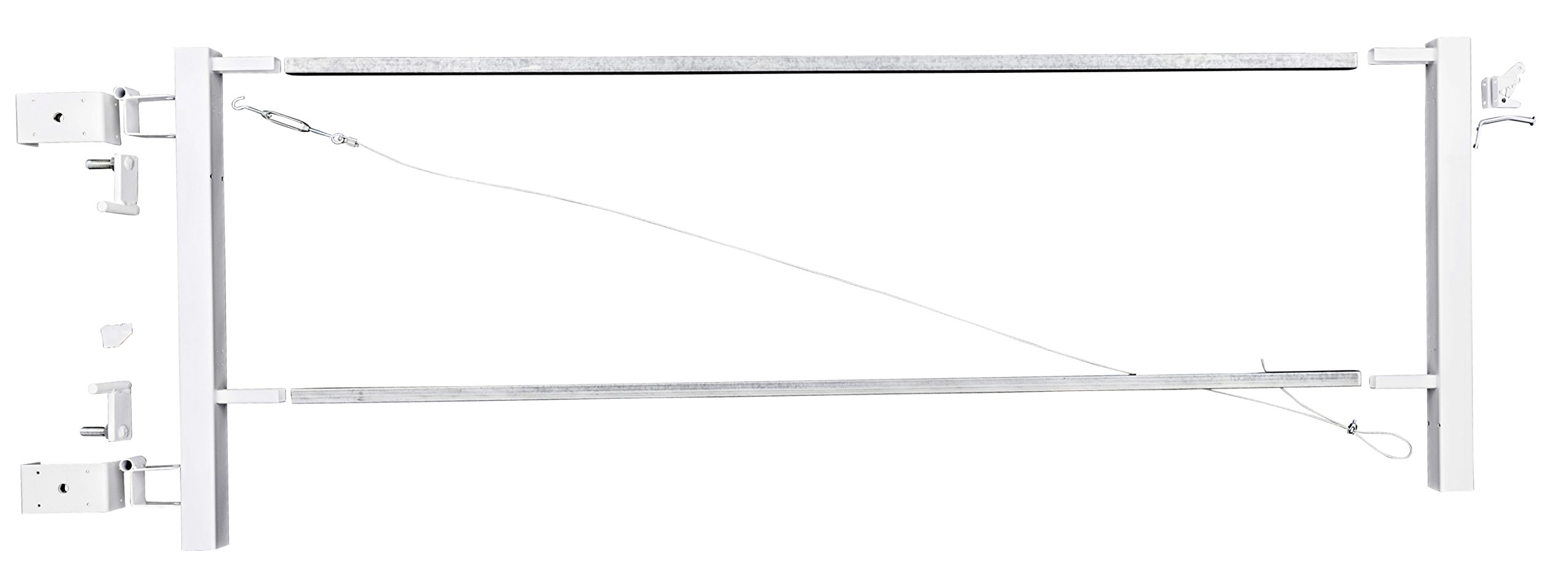 Vinyl Fence Walk Through Gate Kit - Adjust-A-Gate Steel Frame No Sag ...