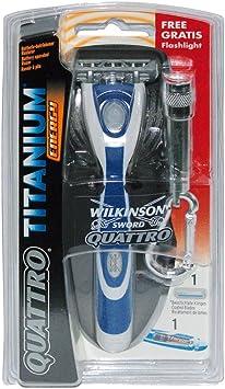 Wilkinson Sword Quattro 7000338l Titanium Energy batería pilas ...