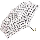 W.P.C 世界派对) 折叠雨伞蝴蝶结格子手动打开粉红色50cm 777–018