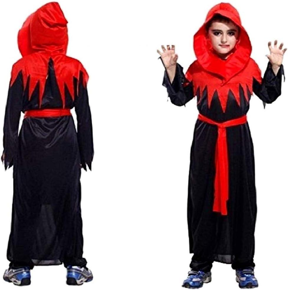 Disfraz diablo gótico ministro niño secta carnaval negro talla m 4 ...
