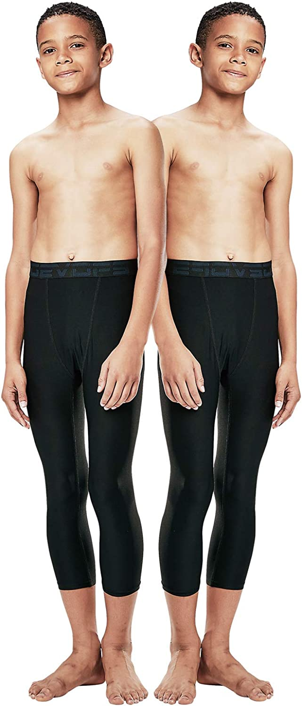 Amazon.com: DEVOPS Boys 2-Pack 3/4 Compression Tights Sport Leggings Pants:  Clothing