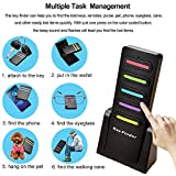 Key Finder,Wireless RF Item Locator Tracker(Upgrade Long Lasting Batteries) Mini Item Tracker Wallet Bags Purse Pet Remote Control Anti-Lost Tag Support,1 RF Transmitter and 6 Receivr (6in1)