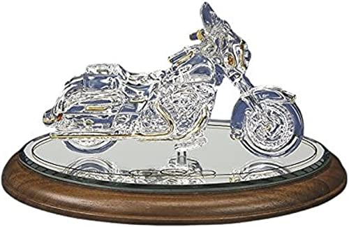 Glass Baron Motorcycle Big Cruiser Handcrafted Glass Figurine from Roy Rose Jewelry