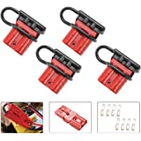 BUNKER INDUST 50A 6-10 Gauge Battery Quick Connect Disconnect Wire Harness Plug Kit 4 Pcs Battery Cable Quick Connect Disconn