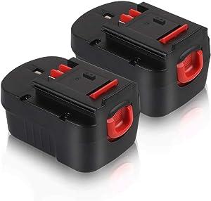 14.4V HPB14 Battery for Black & Decker, Girapow 3.0Ah Ni-Mh Replacement Batteries for Black&Decker Firestorm FSB14 FS140BX 499936-34 499936-35 A14 A144EX A1714 BD1444L, 2 Pack
