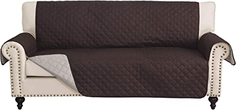 Amazon Com Rhf Reversible Sofa Cover Couch Covers For 3 Cushion Couch Couch Covers For Sofa Couch Cover Sofa Covers For Living Room Couch Covers For Dogs Sofa Slipcover Couch Protector Sofa Chocolate Beige Home Kitchen