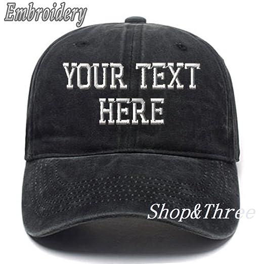 26b93b14 Custom Ponytail Baseball Cap Personalized Messy Bun Hat Mesh Visor Trucker  Hat Denim Black
