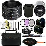 Nikon AF FX NIKKOR 50mm f/1.8D Lens (Certified Refurbished) (Professional Kit)