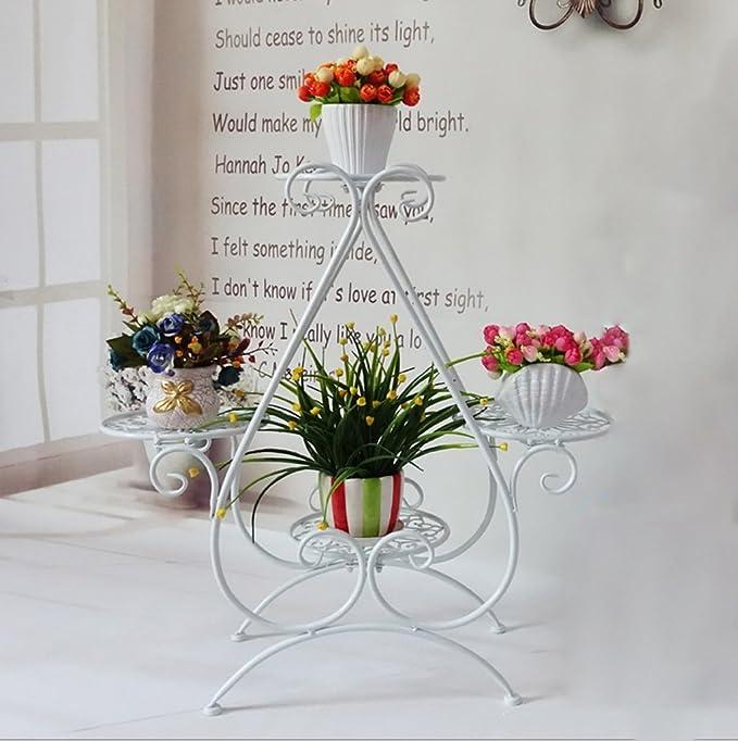 Gfl European Style Iron Art Flower Rack Multi Storey Innen und Au/ßenpflanze Rahmen Balkon Wohnzimmer Blumentopf Display St/änder Antique Metall Rahmen Farbe : Bronze