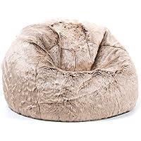 icon Large Childrens Classic Faux Fur Bean Bags - Luxury Furry Kids Bean Bag Chair