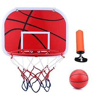 Kids Basketball Hoop Ball Pump Set, Mini Durable Sports Toy Fun Indoor Outdoor Game Great Gift for Children Yosooo