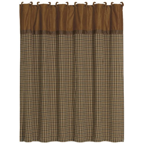 Designer Fabrics Curtains (HiEnd Accents Crestwood Houndstooth Lodge Shower Curtain)