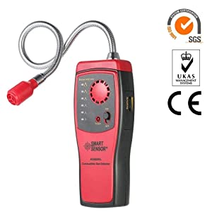 Gas Detector Alarm, Portable Natural Gas Tester Detector/Combustible Propane Methane Gas Sensorr, Combustible Gas Sniffer with Sound Warning, Adjustable Sensitivity and Flex Probe.