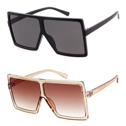 Amazon.com: Gafas de sol de gran tamaño para mujer ...