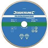 Silverline 918528 Diamant-Fliesentrennscheibe 200 x 25,4 mm, geschlossener Rand