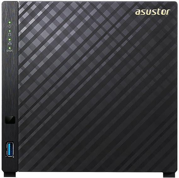 Asustor AS3204T NAS Ethernet Negro servidor de almacenamiento - Unidad RAID (Serial ATA II, Serial ATA III, FAT32,HFS+,NTFS,ext3,ext4, Unidad de disco duro, Intelî Celeronî, DDR3L, CIFS / SMB, SMB 2.0 / 3.0, AFP, NFS,