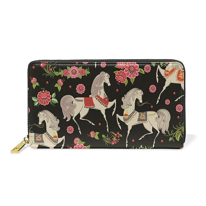 Amazon.com: Princesa Daisy Horse Cartera para Mujer Cuero ...