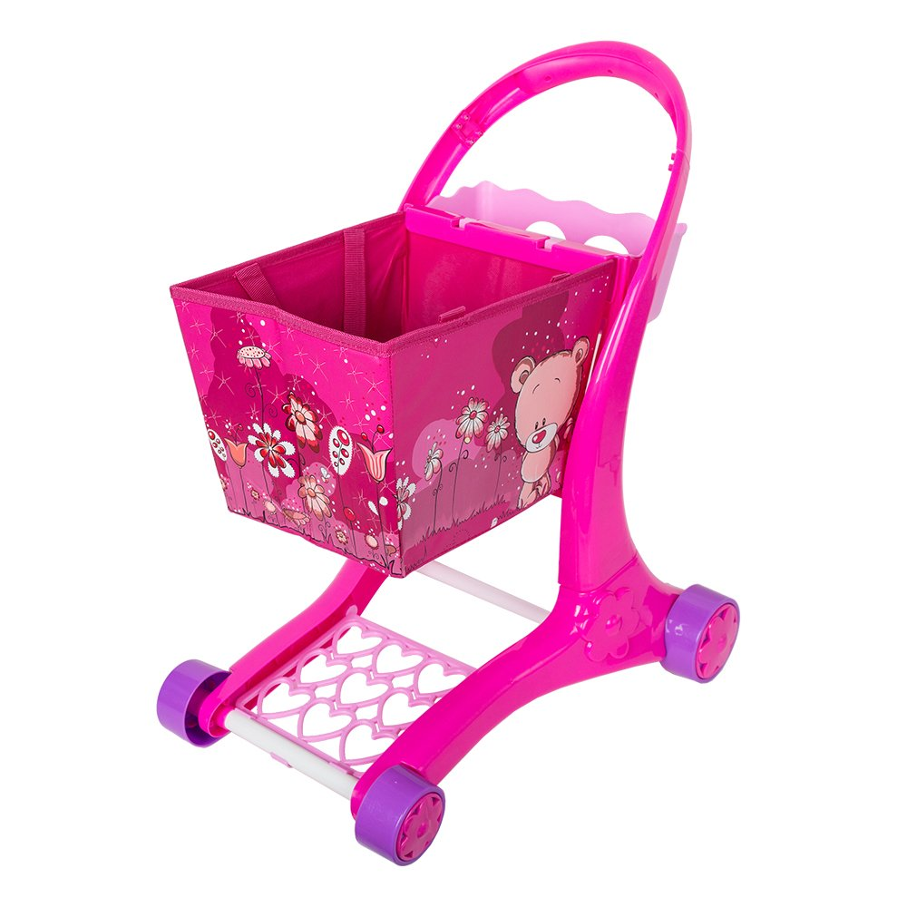 COLORTREE Kids Shopping Carts Pretend Toy for Girl