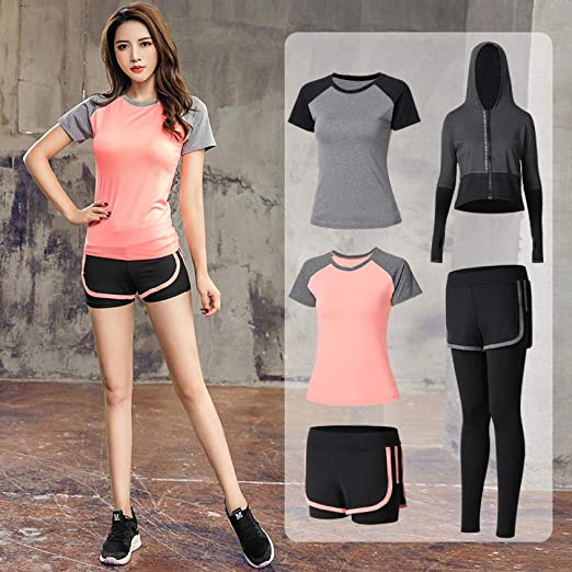 QUANWU Yoga Clothing Sports Suit Female Summer Net Red Loose ...